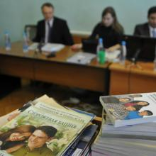 Stacks of booklets distributed by Jehovah's Witnesses are seen during the court session on Dec. 16, 2010, in the Siberian town of Gorno-Altaysk, Russia. Photo courtesy of Reuters/Alexandr Tyryshkin