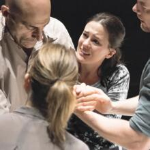 "Mark Strong and company in ""A View From the Bridge"" (photo: Jan Versweyveld)"