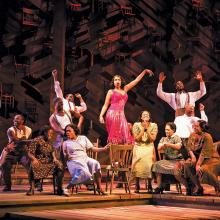 "STANDING TALL. Jennifer Hudson, center, in ""The Color Purple"""