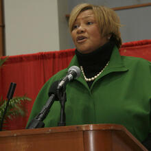 Ward 7 Councilmember Yvette Alexander (pictured here in 2009), chairperson of the Health and Human Service Committee, and Ward 1 Councilmember Brianne Nadeau offered the only votes opposing the measure.