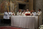 Pope Francis celebrates Mass at Pontifical North American College in Rome.