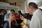 Mass for Iraqi Christian refugees at Our Lady of Peace Center on the outskirts of the Jordanian capital, Amman, in January 2016. (CNS photo/Dale Gavlak)
