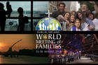 "This is a promotional image for World Meeting of Families to be held Aug. 21-26, 2018, in Dublin. The theme of the meeting is ""The Gospel of the Family: Joy for the World."" (CNS illustration/World Meeting of Families)"