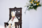 Pope Francis celebrates Mass on May 27 during his pastoral visit in Genoa, Italy. (CNS photo/Georgio Perottino Garofalo, Reuters)