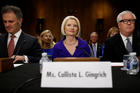 Callista Gingrich at a U.S. Senate Foreign Relations Committee confirmation hearing in Washington on July 18. Gingrich was nominated by President Donald Trump to be the U.S. ambassador to the Vatican. Her husband is former House Speaker Newt Gingrich. (CNS photo/Jonathan Ernst, Reuters)