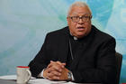 Bishop George V. Murry of Youngstown, Ohio, speaks during a video news conference on Aug. 23 after being named chair of the U.S. bishops' new Ad Hoc Committee Against Racism. (CNS photo/Bob Roller)
