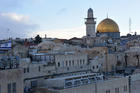 The gold-covered Dome of the Rock at the Temple Mount complex is seen in this overview of Jerusalem's Old City Dec. 6. In an open letter to U.S. President Donald Trump, Christian leaders in Jerusalem said U.S. recognition of the city as the capital of Israel could have dire regional consequences. (CNS photo/Debbie Hill)