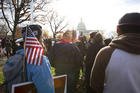 Supporters of comprehensive immigration reform, including a path to citizenship for Dreamers, gather near the U.S. Capitol in Washington Dec. 6. (CNS photo/Tyler Orsburn)