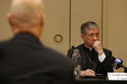 Cardinal Blase J. Cupich of Chicago listens Aug. 2 during a panel discussion on the death penalty in Chicago. (CNS photo/Karen Callaway, Chicago Catholic)