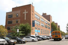 Our Lady Queen of Angels School in the East Harlem section of New York City is seen in this 2015 file photo. On July 9, the Archdiocese of New York announced that financial fallout from the COVID-19 pandemic is forcing it to close numerous Catholic schools. The East Harlem school is not among them. The Diocese of Brooklyn, N.Y. also has announced school closures.