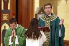 Msgr. William Koenig, vicar for clergy for the Diocese of Rockville Centre, N.Y., is seen celebrating Mass at St. Agnes Cathedral in Rockville Centre Jan. 27, 2019. Pope Francis appointed him bishop of the Diocese of Wilmington, Del., April 30, 2021. (CNS photo/Gregory A. Shemitz)
