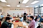 The author teaching at Fairfield Preparatory School (photo courtesey Fairfield Prep)