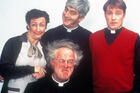 The cast of 'Father Ted,' from left clockwise: Pauline McLynn, Dermot Morgan, Ardal O'Hanlon and Frank Kelly (photo: Alamy/Moviestore Collection Ltd)
