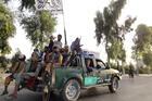 Taliban fighters patrol inside the city of Kandahar, southwest Afghanistan, onAug. 15, 2021. (AP Photo/Sidiqullah Khan)