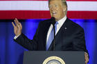 "President Donald Trump speaks in Indianapolis on Sept. 27. Trump called the current tax system a ""relic"" and a ""colossal barrier"" that's standing in the way of the nation's economic comeback. (AP Photo/Michael Conroy)"