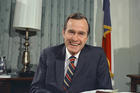 George H.W. Bush on Dec. 18, 1970, shortly after he was appointed as U.S. ambassador to the United Nations.  (AP Photo/John Duricka, File)