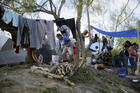 A camp in Matamoros, Mexico, for migrants from Central America seeking asylum in the United States. Photo taken on Nov. 5, 2019. (AP Photo/Eric Gay, File)