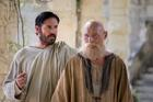 "Jim Caviezel as Luke and James Faulkner as Paul are seen in the film ""Paul, Apostle of Christ."" (CNS photo/Sony Pictures)"
