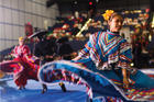 A baile folklórico dancer with Balet Alianza Latina performs during a celebration honoring Our Lady of Guadalupe, patroness of the Americas, in Houston in December 2016. (CNS photo/Victor Aleman, Angelus News)
