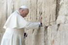 Pope Francis at the Western Wall in Jerusalem was one of the most-liked images on his Instagram account in 2017. (screen shot from franciscus account on Instagram)