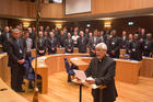 Jesuit Father Arturo Sosa, addresses delegates after his election as the new superior general of the Society of Jesus in Rome (Photo: Don Doll, S.J.)