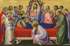 Gherardo di Jacopo (Starnina), The Dormition of the Virgin, 1401-1405, Tempera on panel (Art Institute of Chicago)