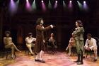 RAP BATTLE. Daveed Diggs as Thomas Jefferson and Lin-Manuel Miranda as Alexander Hamilton in 'Hamilton.'
