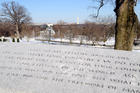 Engraved words from Kennedy's inaugural address (iStockPhoto)
