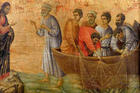The Miracle of the Catching of Fish. Duccio (14th C.). Courtesy of Wikimedia Commons.