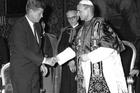 President John F. Kennedy with Pope Paul VI at the Vatican on July 2, 1963.