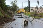 Downed power lines are seen Oct. 24 in Las Marias, Puerto Rico, more than one month after Hurricane Maria devastated the island. (CNS photo/Bob Roller)