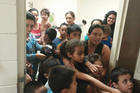 BREAKING BORDER. Unaccompanied migrant children at a facility in south Texas.