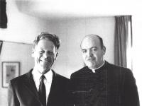 Eugene C. Kennedy, right, pictured with Hans Kung.
